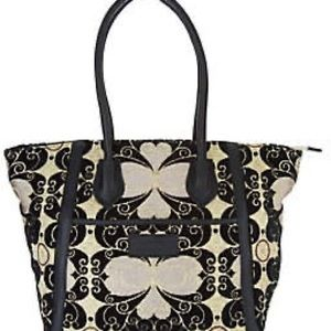 Mushmina woven and leather tote. NWOT never used